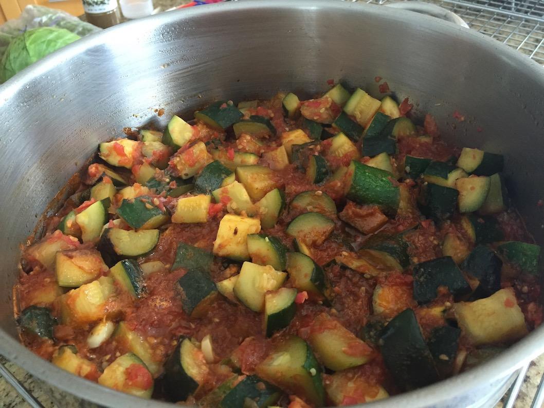 zucchini in sauce